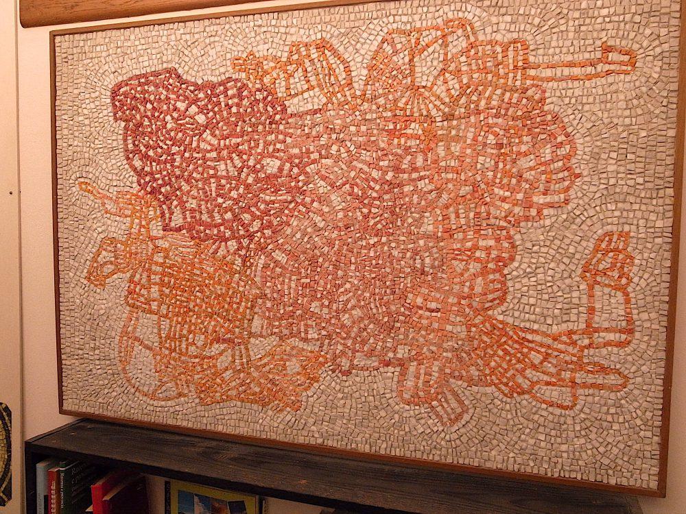 岡田七歩美モザイクアート「革命」2000