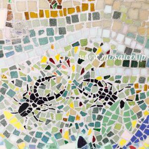 #モザイク工房 #モザイクアート #タイルモザイク #タイル壁画 #モザイク壁画 #クワガタモザイク #クワガタバトルタイル